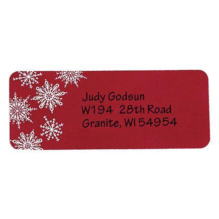 Large Print Red Snowflake Address Labels - Set of 250-346824