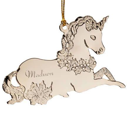 Personalized Unicorn Metal Ornament-347578