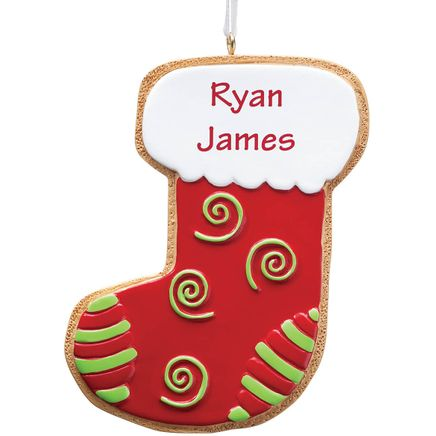 Personalized Stocking Christmas Cookie Ornament-347629