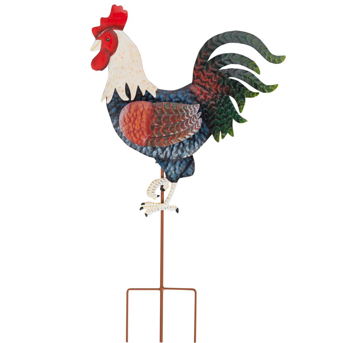 Rooster Metal Garden Stake by Fox River Creations™-348356