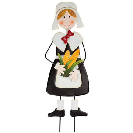 Pilgrim Girl Metal Lawn Stake by Fox River Creations™-348513