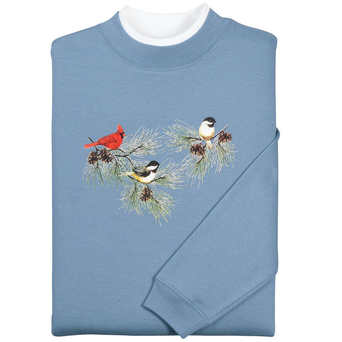 Chickadees and Cardinal Sweatshirt by Sawyer Creek-348968
