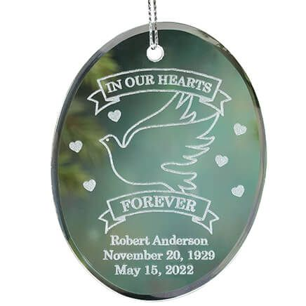Personalized Memorial Glass Ornament-349190