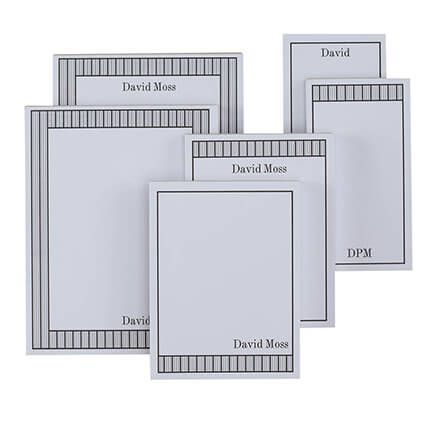 Personalized Vertical Stripes Notepads Refill Set of 6-349465