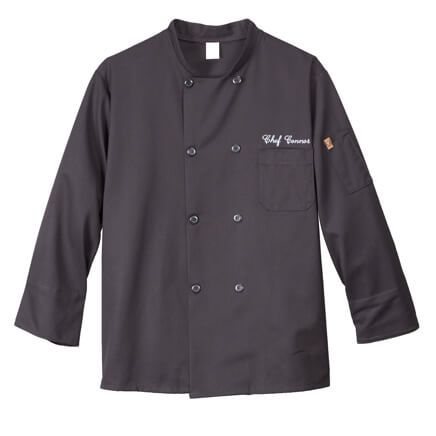 Chefs Jacket Black  Personalized-349541