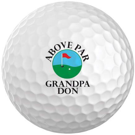 Personalized Above Par Golf Balls Set of 6-349700