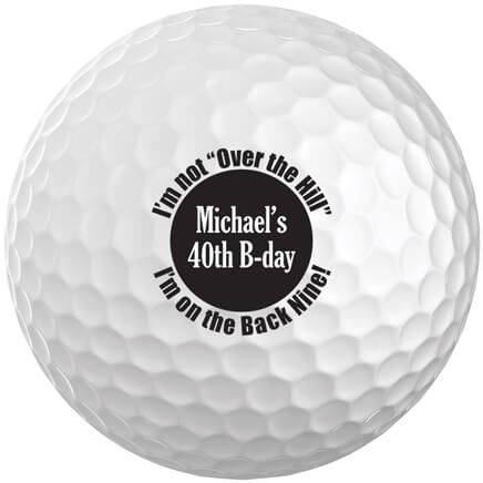 Personalized Over the Hill Golf Balls, Set of 6-349743