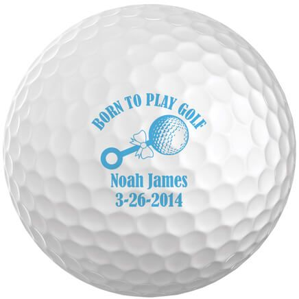Personalized Born to Play Golf Balls, Set of 6-349745