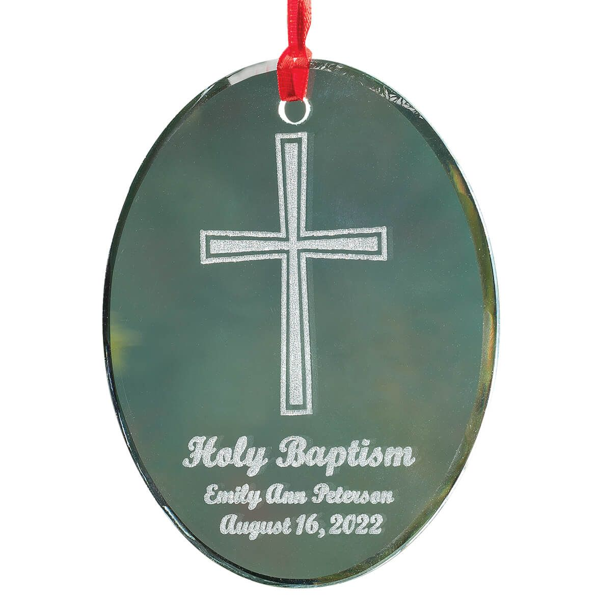 Personalized Glass Baptism Ornament-349931