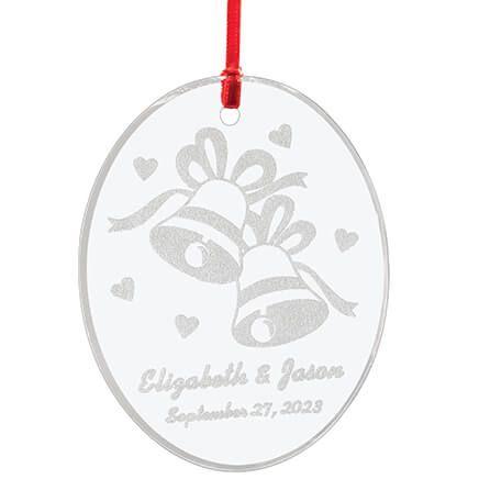Personalized Glass Wedding Ornament-349932