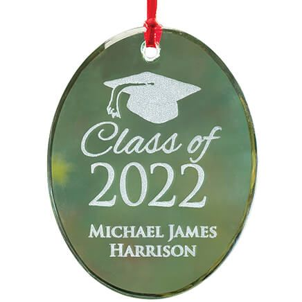 Personalized Glass Graduation Ornament-349934