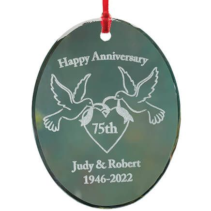 Personalized Glass Anniversary Ornament-349936