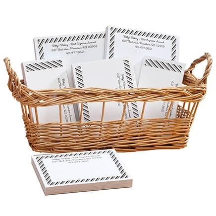 Personalized Diagonal Stripes Business Basketful of Notepads-350382
