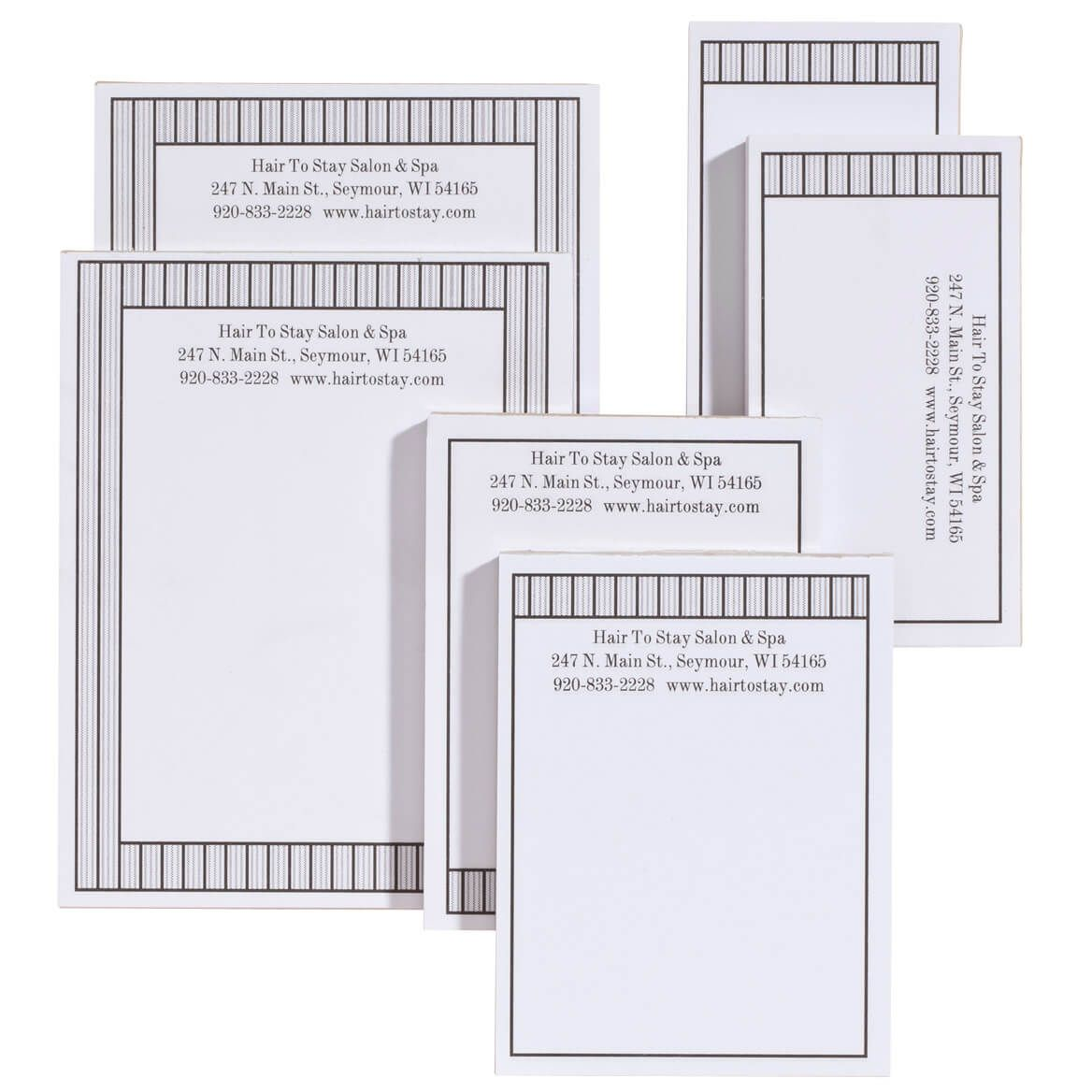 Personalized Vertical Stripes Business Notepads Refill Set of 6-350389
