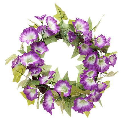 "16"" Purple Petunia Wreath by OakRidge™-350712"