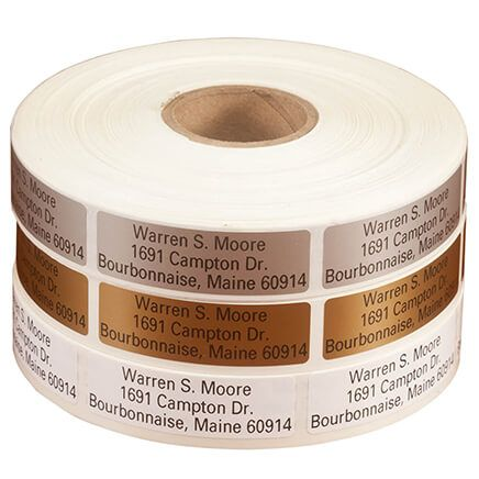 Large Print Self-Stick Address Labels, Roll of 1000-350737