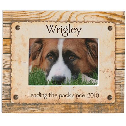 Personalized Rustic Look Dog or Cat Photo Frame-350963
