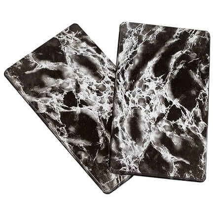 Black Marble Burner Covers Set of 2-351050