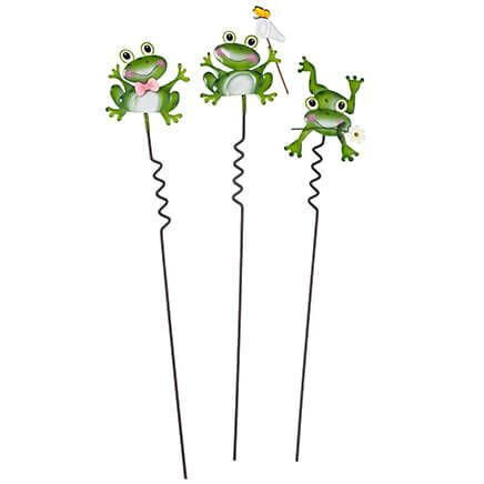 Frog Lawn Stakes Set of 3 by Fox River Creations™-351184