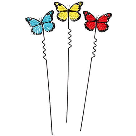 Butterfly Yard Stakes, Set of 3 by Maple Lane Creations™-351186