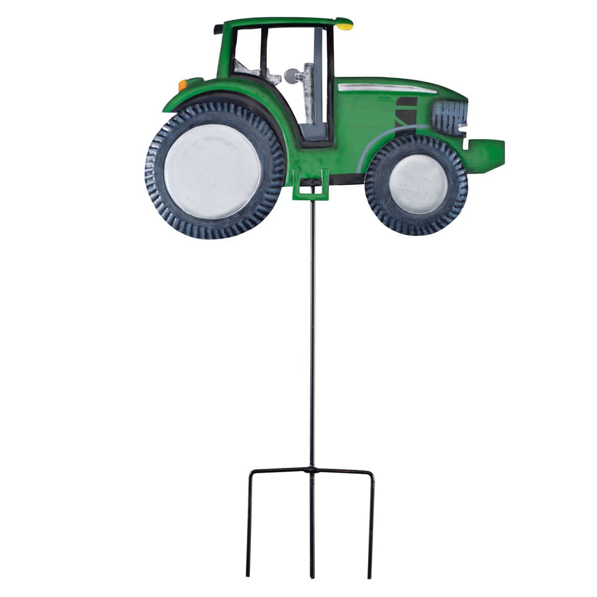Solar Metal Tractor Yard Stake by Fox River Creations™-351467