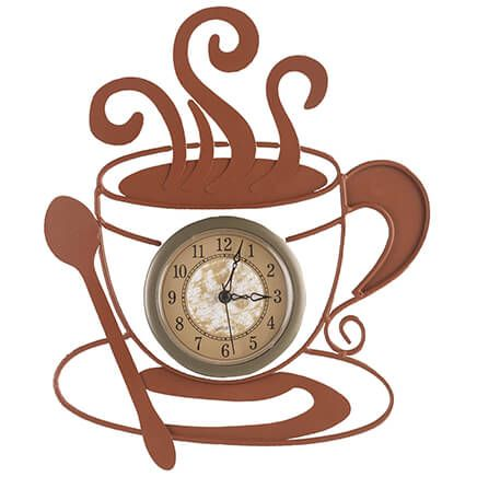 Metal Coffee Cup Clock-352016