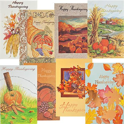 Thanksgiving Card Assortment, Set of 24-352356