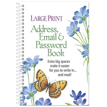Large Print Address, Email and Password Book-352395