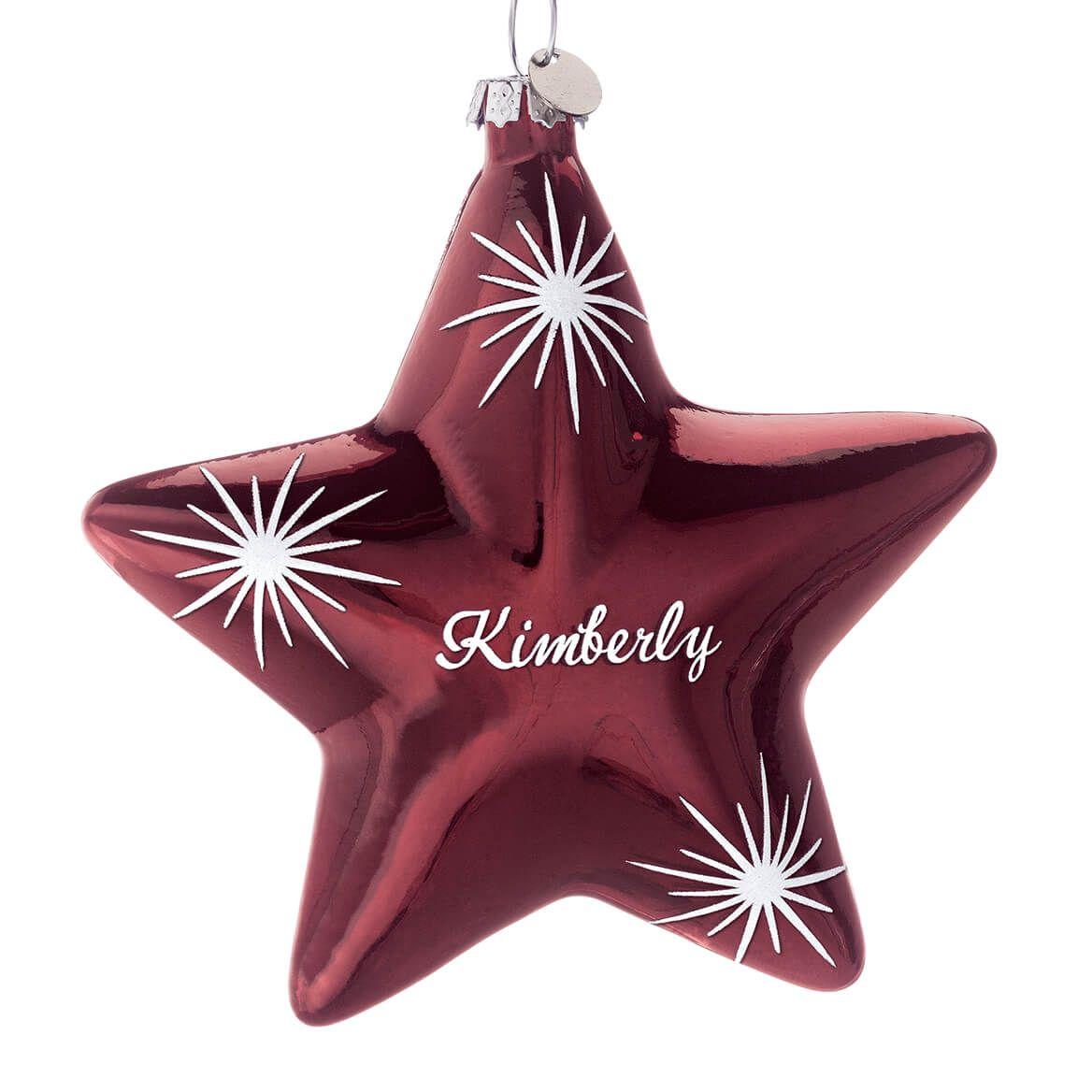 Personalized Birthstone Star Ornament-352826