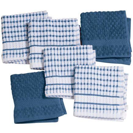 Terry Kitchen Dish Cloths, Set of 6-353166