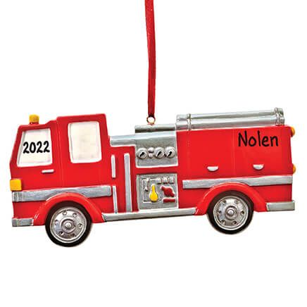 Personalized Fire Truck Ornament-353205