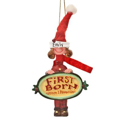 Personalized Mom's Favorite First Born Ornament-353218