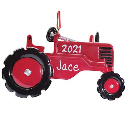 Personalized Red Tractor Ornament-353323