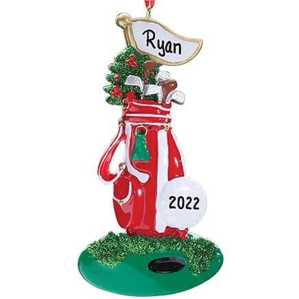Personalized Golf Bag Ornament-353339