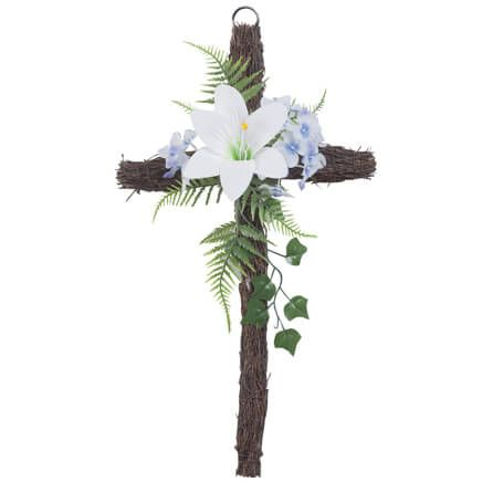 Grapevine Easter Cross-354106