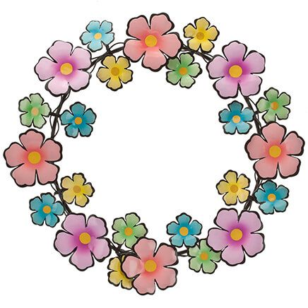 Metal Flower Wreath by Fox River™ Creations-354110