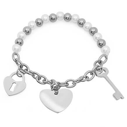 Faux Pearl Charm Bracelet-354134