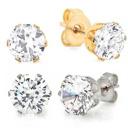 CZ Stud Earrings 2 Pair          VR-354149