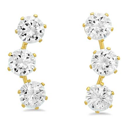 CZ Ear Climber Earrings-354150