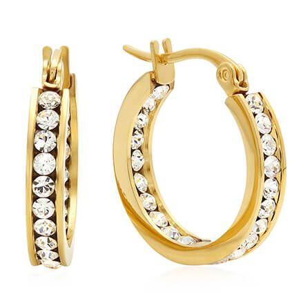 Swarovski Elements Hoop Earrings-354182
