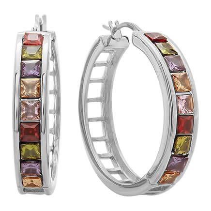 Multi-Colored Hoop Earrings-354215