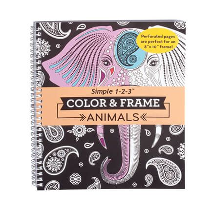 Adult Color & Frame Animals Coloring Book-354706