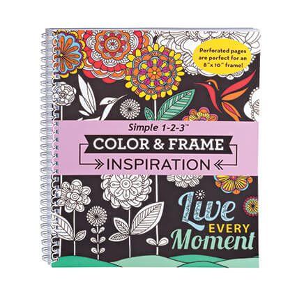Adult Color & Frame Inspiration Coloring Book-354707