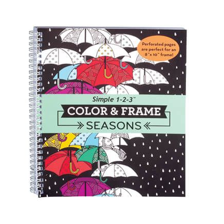 Adult Color & Frame Seasons Coloring Book-354708