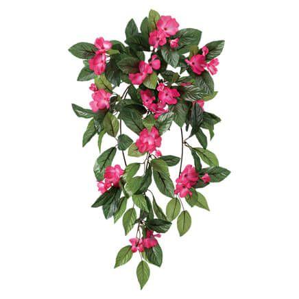 """Faux Floral Home Décor OakRidge Artificial Geranium Hanging Stem 23 ½"""" Long"""