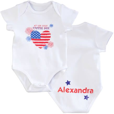 "Personalized ""4th of July Cutie Pie"" Onesie-355364"