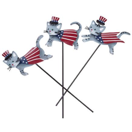 Metal Patriotic Cat Planter Stakes by Fox River™ Creations, Set of 3-355397