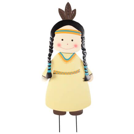 Native American Girl Lawn Stake by Fox River Creations™-355582