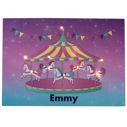 Personalized Lighted Carousel Canvas-355681