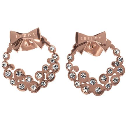 Diamond Look Holiday Wreath Earrings-355690